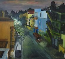 Bangalore at 4 o'clock from my Balcony by Anil Singh