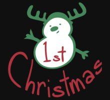 1st Christmas snowman Kids Tee