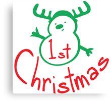 1st Christmas snowman Canvas Print