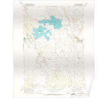 USGS Topo Map Oregon Cow Lakes 279464 1969 24000 Poster