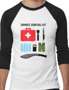 Zombie survival kit Men's Baseball ¾ T-Shirt