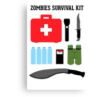 Zombie survival kit Canvas Print