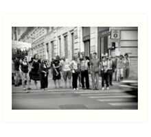 pedestrian crossing Art Print