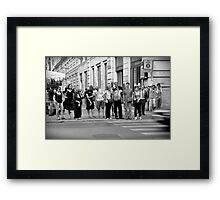 pedestrian crossing Framed Print