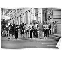 pedestrian crossing Poster