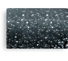 Macro of sparkling water Canvas Print