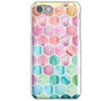 Watercolour Hexagon Pattern iPhone Case/Skin