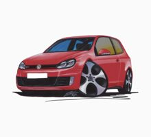 VW Golf GTi (Mk6) Red Kids Tee