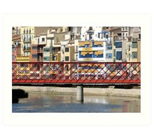 Eiffel Bridge in Girona (Espana) Art Print