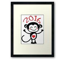 2016 Year of animal Monkey Framed Print