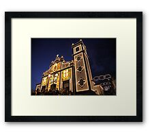 Church lighting at night Framed Print