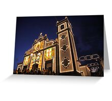 Church lighting at night Greeting Card