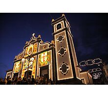 Church lighting at night Photographic Print