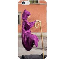 levitate girl in Old Town in Warsaw  iPhone Case/Skin