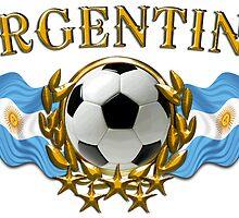 Soccer Flags Argentina Sticker by ukedward