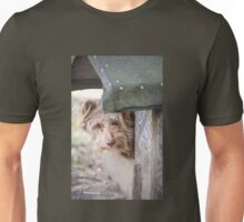 bad dog head jut out of kennel  Unisex T-Shirt