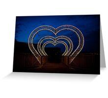 illumination of heart shape in park Greeting Card