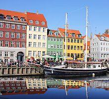 Nyhavn area in Copenhagen, Denmark by Nasko .