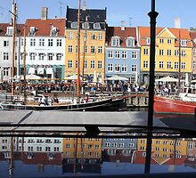 Nyhavn area in Copenhagen, Denmark by Digital Editor .