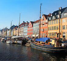 Nyhavn area in Copenhagen, Denmark by Brünø Beach .
