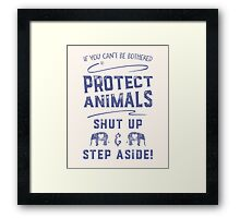 Protect Animals Framed Print