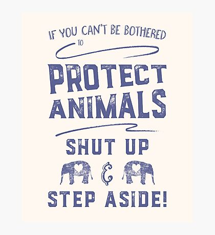 Protect Animals Photographic Print