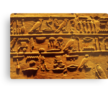 Egyptian hieroglyphs from Karnak temple in Luxor Canvas Print