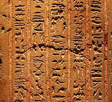 Egyptian hieroglyphs from Karnak temple in Luxor by Nasko .