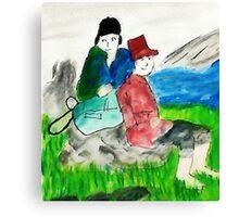 Run aways, watercolor Canvas Print
