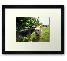Freddie and Molly Framed Print