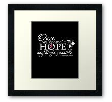 Breast Cancer Inspirational Quote Framed Print