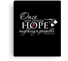 Breast Cancer Inspirational Quote Canvas Print