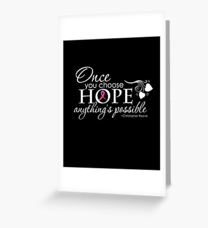 Breast Cancer Inspirational Quote Greeting Card