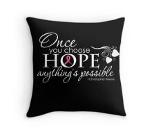 Breast Cancer Inspirational Quote Throw Pillow