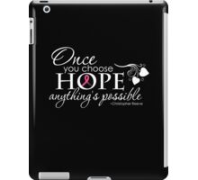 Breast Cancer Inspirational Quote iPad Case/Skin