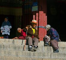 Friends, Dreprung, Tibet. by bulljup
