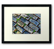 Goodbye Yellow Brick Road - Hello Blue Cobblestone Road ©  Framed Print