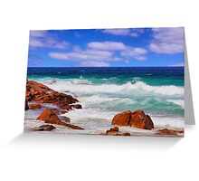 An eye catching scene at Moses Rock Greeting Card