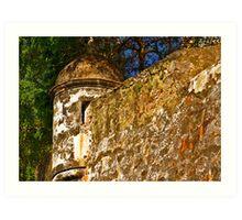 The Wall - Paseo del Morro - Old San Juan Art Print