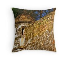 The Wall - Paseo del Morro - Old San Juan Throw Pillow