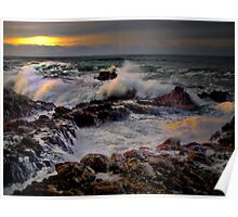 Lights Reflections ~ Oregon Coast ~ Poster