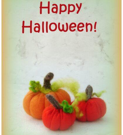 Happy Halloween - Handmade needle felted creation from Teddy Bear Orphans Sticker