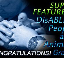 SUPER FEATURE banner for DisABLED PEOPLE and ANIMALS by Baina Masquelier