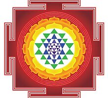 Sri Yantra Blank Journal by CulturalCompass