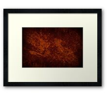 Vintage stained cloth sheet texture  Framed Print