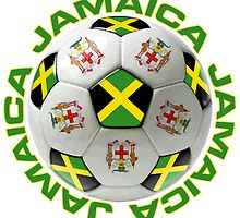 Soccer Ball Flags Jamaica Sticker by ukedward