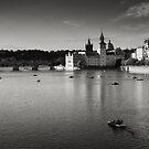 Pedalo Down The Vltava by Andy Freer