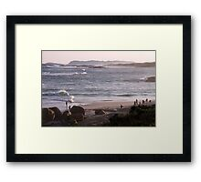 Lights Beach Dusk Framed Print