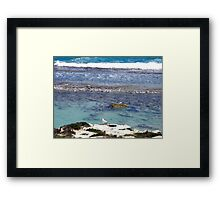 Catching anything Framed Print