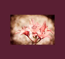 Flowering Lilium plant sepia toned image  Womens Fitted T-Shirt